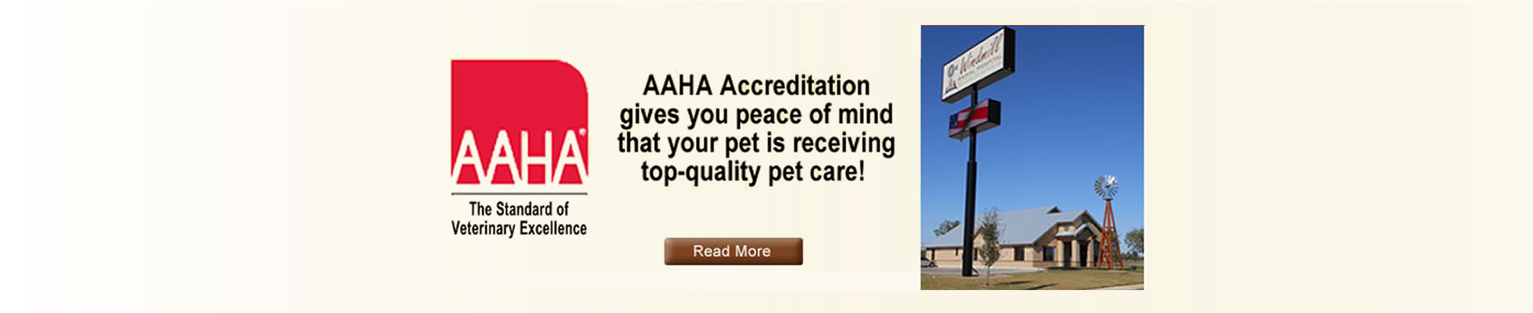 Windmill Animal Hospital is AAHA accredited
